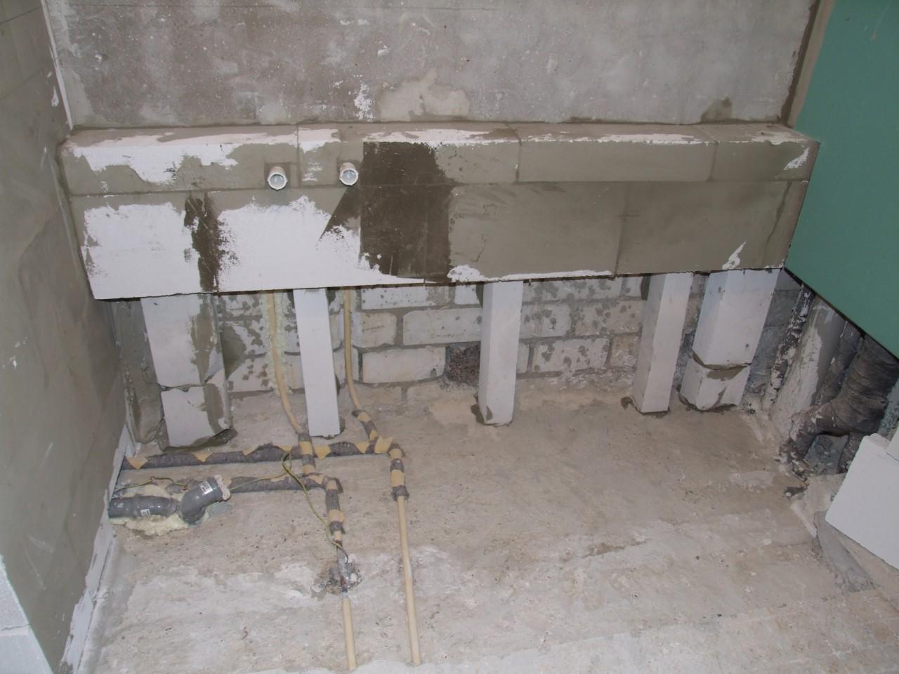 Trennwand Zwischen Dusche Badewanne : Durch die Hintermauerung der ...